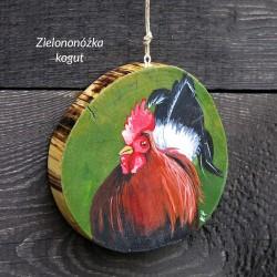 Zielononóżka  kogut - dekor