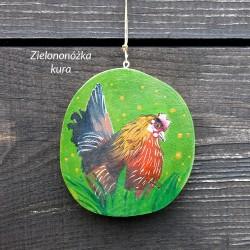 Zielononóżka kura - dekor